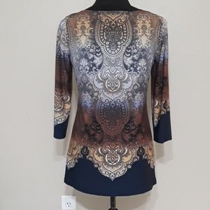 Roz & Ali Tops - Roz & Ali Long Sleeve Tunic Size Petite Small
